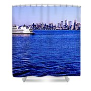 Cruising Elliott Bay Shower Curtain