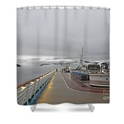 Cruising In The Fog 3 Shower Curtain