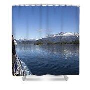 Cruising Inn Doubtful Sound South Island New Zealand Shower Curtain