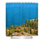 Cruising Jenny Lake Shower Curtain