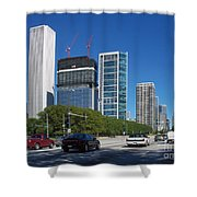 Cruising North On Lake Shore Drive In Chicago Shower Curtain