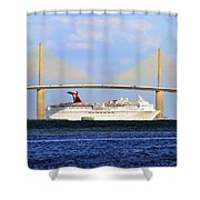 Cruising Tampa Bay Shower Curtain by David Lee Thompson