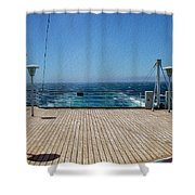 Cruising The Pacific Shower Curtain