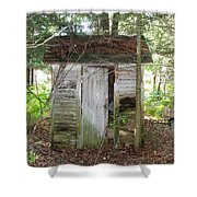 Crumbling Old Outhouse Shower Curtain