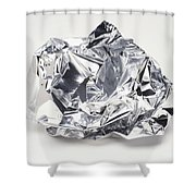 Crumpled Aluminum Foil Shower Curtain