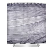 Crumpled Cotton Shower Curtain