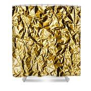 Crumpled Gold Foil Shower Curtain