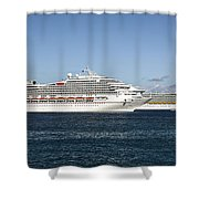 Cruse Ships At Anchor Shower Curtain