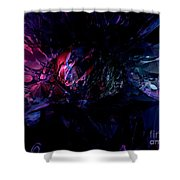 Crushed Abstract Shower Curtain
