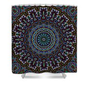 Crushed Blue Velvet Kaleidoscope Shower Curtain