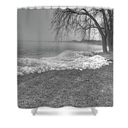 Crushed Ice 3 Shower Curtain