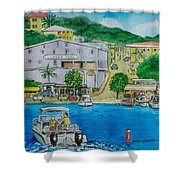 Cruz Bay St. Johns Virgin Islands Shower Curtain