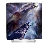 Cry Of The Raven Shower Curtain