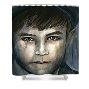 Crying In The Shadows Shower Curtain