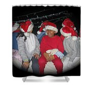 Crying Junior Santa Christmas Parade Eloy Arizona 2005-2013 Shower Curtain