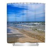 Crystal Beach Shower Curtain