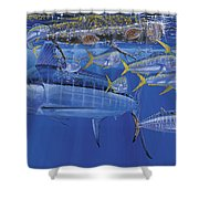 Crystal Blue Off00100 Shower Curtain