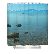 Crystal Clear Lake Tahoe Shower Curtain