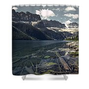 Crystal Clear Mountain Lake Shower Curtain