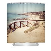 Crystal Cove Overlook Picture Shower Curtain by Paul Velgos
