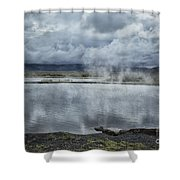 Crystal Crane Hot Springs Shower Curtain