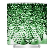 Crystal Green Shower Curtain