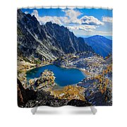 Crystal Lake Shower Curtain by Inge Johnsson