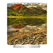 Crystal Lake Reflections Shower Curtain