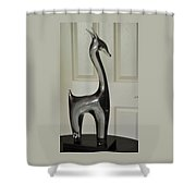 Crystal Llama On Stand Shower Curtain