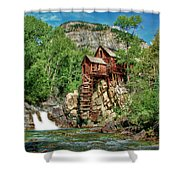 Crystal Mill Crystal Colorado Shower Curtain