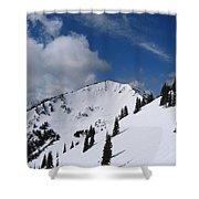Crystal Mountain Bluest Sky Shower Curtain