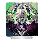 Crystal Royale Fractal Shower Curtain