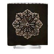 Crystal Snowflake Shower Curtain