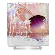 Crystal Sunset Shower Curtain
