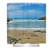 Crystal Waters - Port Macquarie Beach Shower Curtain
