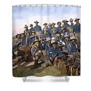 Cuba - Tenth Cavalry 1898 Shower Curtain