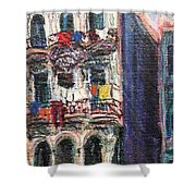 Cuba Edificios Shower Curtain