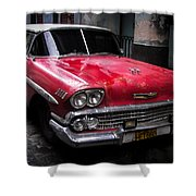 Cuban Vintage Red Shower Curtain