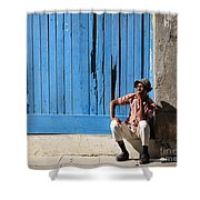 Cuban Man And His Cigar Shower Curtain
