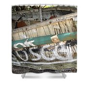 Cuban Refugees Boat 2 Shower Curtain