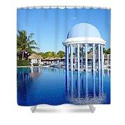 Cuban Resort Shower Curtain