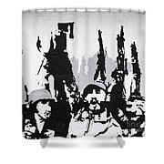 Cuban Revolution Painted On A Wall Shower Curtain