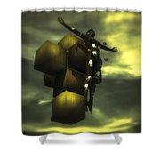 Cube Cross Shower Curtain