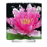 Cubed Lily Shower Curtain