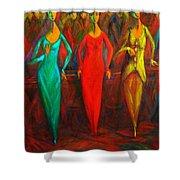 Cubism Dance II Shower Curtain