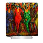 Cubism Dance  Shower Curtain
