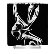 Cubism Love Shower Curtain