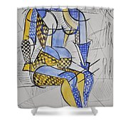 Cubist Expression Shower Curtain