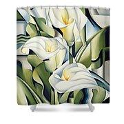 Cubist Lilies Shower Curtain