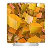 Cubist Melon Burst By Jammer Shower Curtain